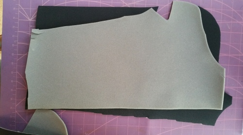 The reverse of teh fabric