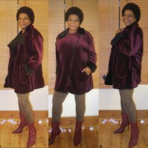 Minerva Product Review Double Faced Velour Jacket