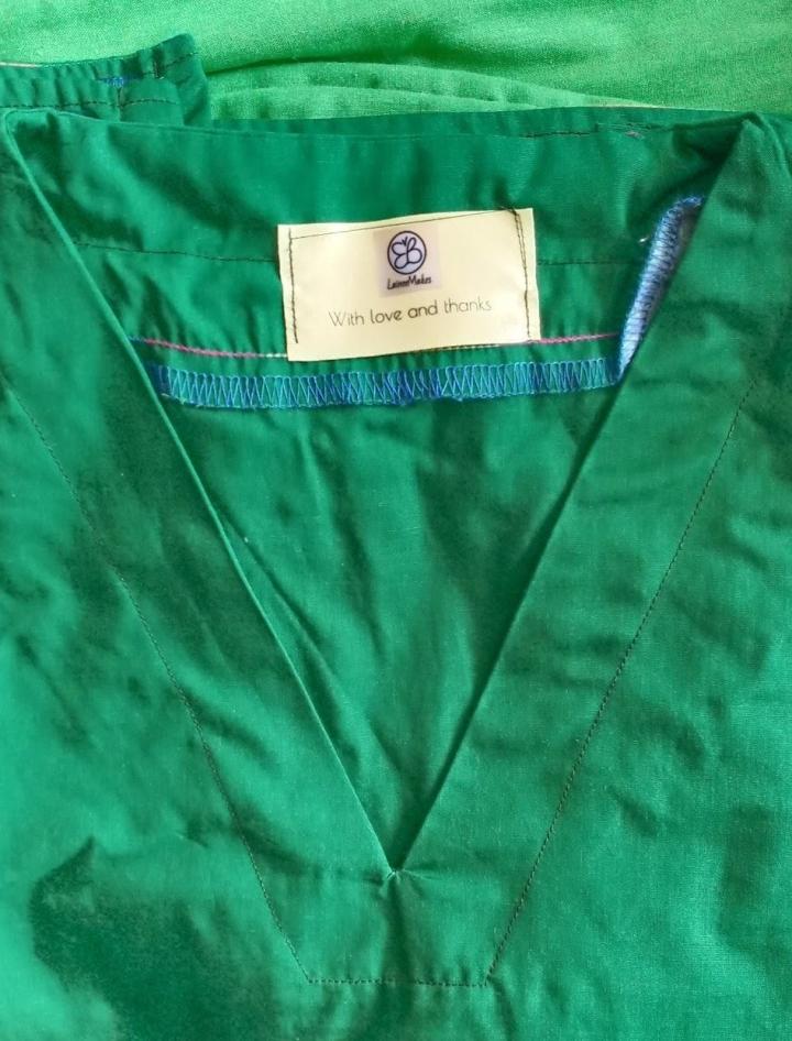 green scrubs